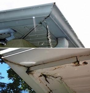 Home inspection carmel gutter cleaning carmel roof for Leaking roof gutter