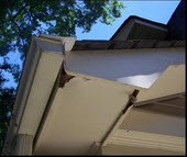 Soffit Repair Before