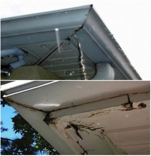 how to stop aluminum gutters from leaking