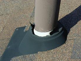 Roof boots plumbing vents david hazen group - Roof air vent leaking water ...