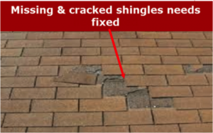 Missing Shingles Need Fixed