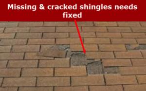 Missing Shingles Need Fixed